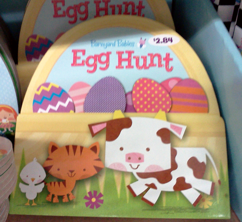 Easter cow and the egg hunt