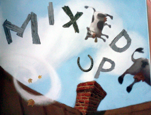 Fall mixed up book with flying cows