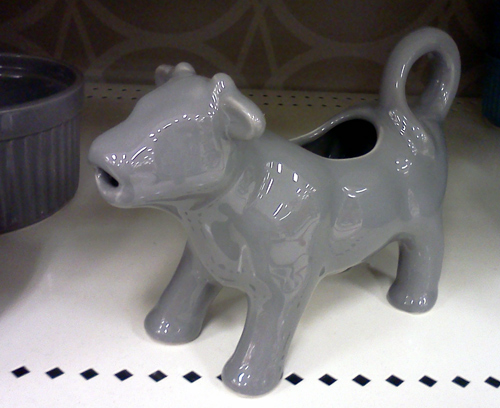 Grey cow creamer at Target