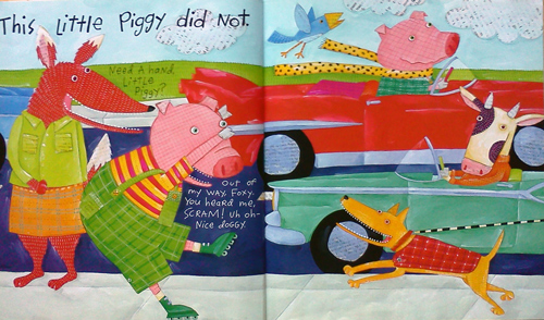 This little piggy's book of manners has a cow in it