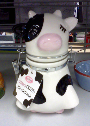 Meditating cow jar at Ross