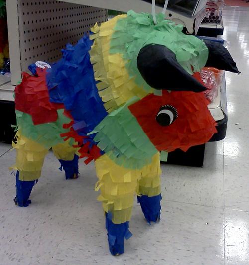 birthday bull pinata at Target