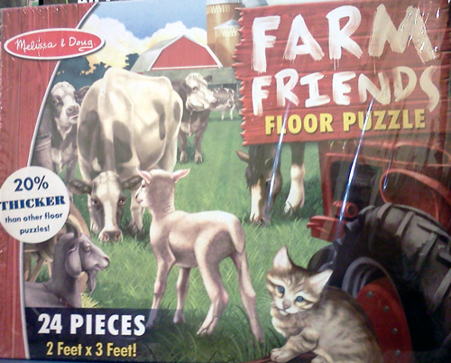 Melissa & Doug farm friends floor puzzle