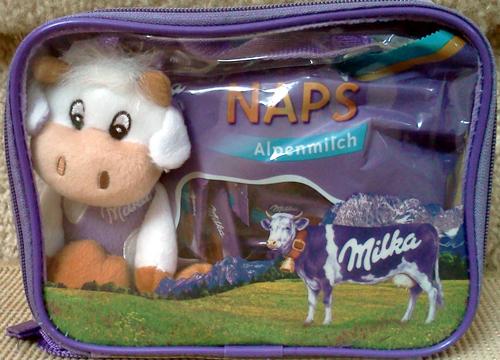 Milka chocolate gift bag