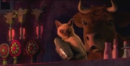 The cow in the movie Puss in Boots