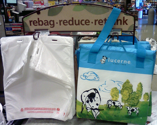 Vons Lucerne shopping bag with cows
