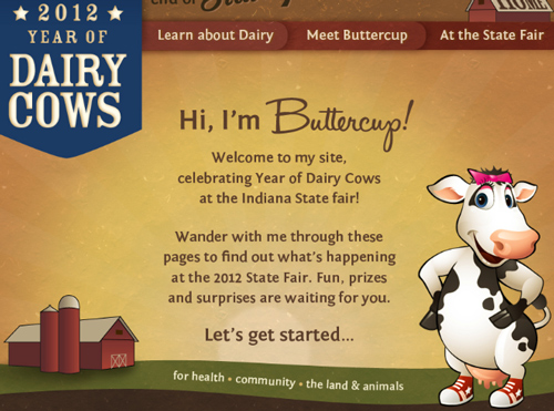 2012 Indiana State Fair - Year of Dairy Cows