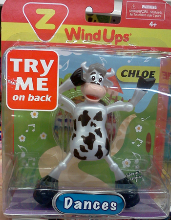 Chloe the wind-up dancing cow