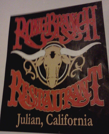 Rong Branch Restaurant in Julian, California