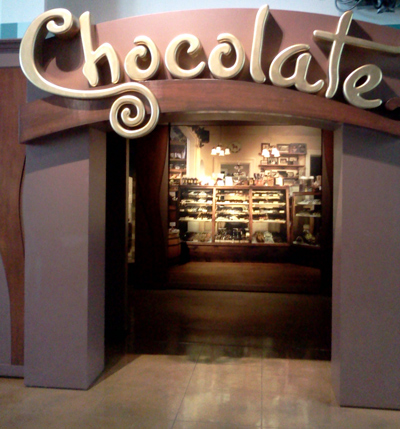 Chocolate exhibit at the San Diego Natural History Museum