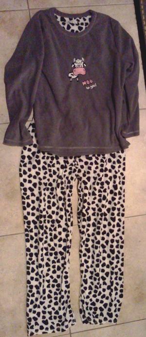 Cow pajamas as a Christmas gift