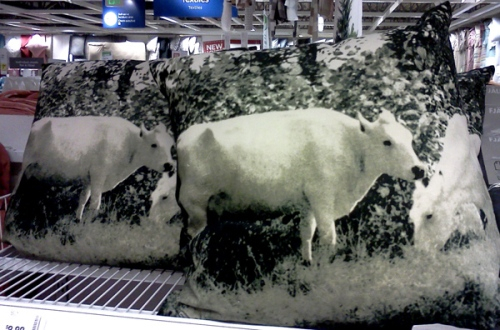 IKEA cow cushions