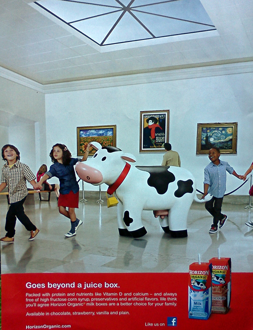 The cow from the Horizon milk ad
