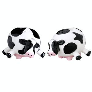 Boston Warehouse Udderly Cow Salt And Pepper Shakers